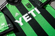 Austin FC Unveil Their First-Ever Primary Jersey - SoccerBible First Ever, Football Outfits, The Austin, Matthew Mcconaughey, Hollywood Actor, Vertical Stripes, Two By Two, Soccer Outfits