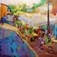 A Perfect Day for a Slow Getaway in France, painting by artist Dreama Tolle Perry