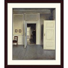 """Global Gallery 'A Woman in an Interior' by Vilhelm Hammershoi Framed Painting Print Size: 38"""" H x 32.92"""" W x 1.5"""" D"""