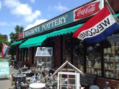 Seagrove, North Carolina - pottery capital of the US with more than 100 local potters.