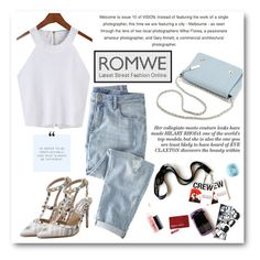"""""""Romwe.com"""" by doltshey ❤ liked on Polyvore featuring Wrap, MAC Cosmetics and Eos"""