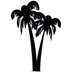 palm tree stencil Silhouette Clip Art, Tree Silhouette, Silhouette Projects, Silhouette Design, Tree Stencil, Stencil Painting, Love Painting, Stenciling, Stencil Patterns