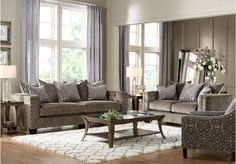 picture of Cindy Crawford Home Sidney Road Gray 8 Pc Living Room  from Living Room Sets Furniture