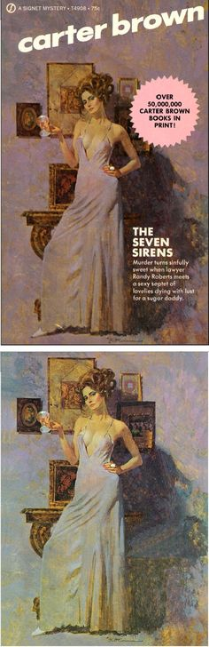ROBERT McGINNIS - The Seven Sirens by Carter Brown (Alan Geoffrey Yates) - 1972 Signet Books - cover by John Flickr - print by renegadecouture
