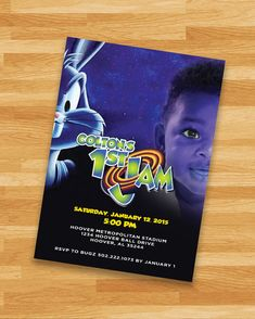 PRINTABLE Custom Space Jam Invitation Loony Toons by NoteworthyCreative