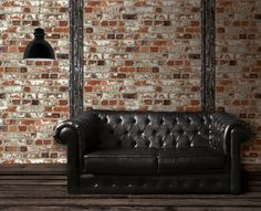 Brick wall wallpaper! From the 'Just like it' range by Aspiring Walls. Available through Guthrie Bowron stores.