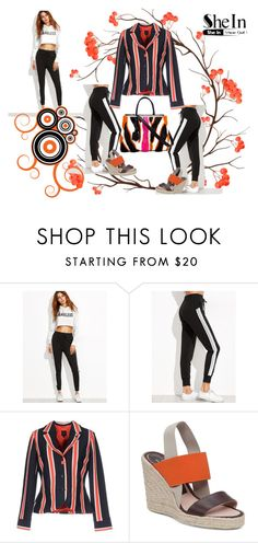"""""""Shein"""" by vaslida ❤ liked on Polyvore featuring adidas Originals, Delman and Fendi"""