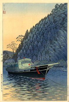 Enoura, by Shiro Kasamatsu, 1938 -- See also at: http://www.hanga.com/viewimage.cfm?ID=2617