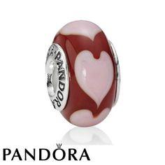 Pandora Red Hearts Charm 80235 #jewelry