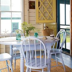 beach cottage charm kitchen