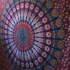 Indian Mandala Tapestry Hippie Bedspread Gypsy Queen Blanket Wall Hanging Throw  #Unbranded #ArtDecoStyle