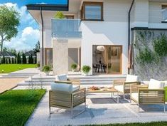 DOM.PL™ - Projekt domu ARP EMILIAN CE - DOM AP2-13 - gotowy koszt budowy Classic House Exterior, Modern Small House Design, Home Fashion, Houses, Mansions, House Styles, Home Decor, Homes, Decoration Home