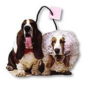 Basset wedding gift bag...tacky? of course! Do i love it? duh.. lol
