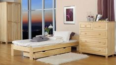 The bed is made from solid pine wood and combines modern design with high stability. The bed gives any room elegance and more comfort. The bed is wonderful with other colors and almost all the decorative items to combine.