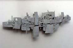 Cityscape by Home Land & Sea by Guy Ngan Wall Murals, Wall Art, Spirited Art, Brutalist, Wall Sculptures, Urban Art, Artsy Fartsy, Interior And Exterior, Pop Art