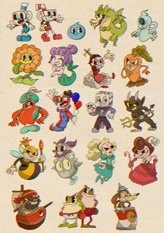 Baby Cartoon Vintage Ideas For 2019 1930s Cartoons, Vintage Cartoons, Old School Cartoons, Cuphead Game, Game Art, Cartoon Kunst, Cartoon Art, Animation, Desenhos Old School