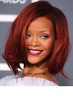Rihanna stuns in a voluminous lob.