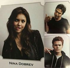 Nina Dobrev, Ian  Somerhalder, and Paul Wesley