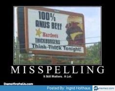 Billboard misspelling