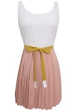 Accordion-pleat dress