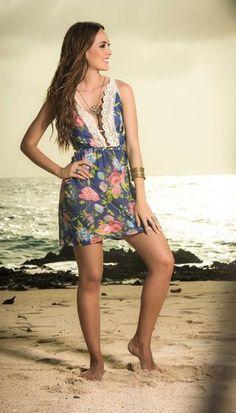 AMPM By Mapale Floral Crochet Sun Dress