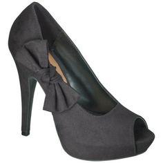 Women's Xhilaration® Karissa Peep Toe Bow Heels - Assorted Colors