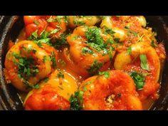 Reteta de ardei umpluti cu carne de porc orez si rosii - YouTube Shrimp, Curry, Stuffed Peppers, Chicken, Ethnic Recipes, Soups, Youtube, Food, Curries