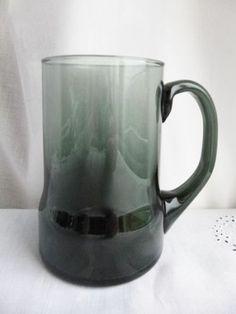 DARTINGTON GLASS PINT BEER MUG / TANKARD Smoke grey VINTAGE 1970 | eBay