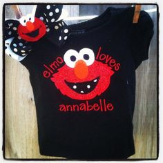 Elmo Birthday Elmo Shirt Elmo Onesie Elmo Birthday by LilMissAnnabelle on Etsy, $26.00