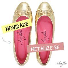 Que tal apostar nos metalizados pra potencializar os looks das festas de fim de ano? Claro, que siiim! http://www.iloveflats.com.br/sapatilha-matelasse-specchio-ouro #iloveflats #euusoiloveflats #metalizados