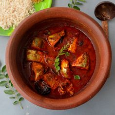 Kerala Style Fish Curry with Gambojee – World's best breakfast recipes: Breakfast Recipes from Kerala Curry Recipes, Fish Recipes, Seafood Recipes, Indian Food Recipes, Ethnic Recipes, Kerala Recipes, Prawn Recipes, Recipes With Yeast, Cooking Recipes