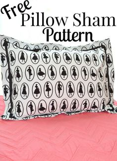 Make a personalized pillow sham with this easy Free Pillow Sham Pattern that you can sew with beginner sewing skills.