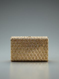 Judith Leiber Wave Pattern Crystal Minaudiere (I know technically not jewelry, a handbag, but seriously it's all beaded at this point it's pretty much jewelry that you carry.)