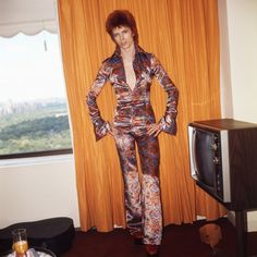 David Bowie in the best jumpsuit EVER.