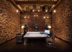 Loving the walls of this recording studio.