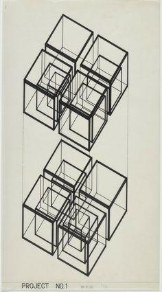 Hiromi Fujii, Todoroki House. Ichikawa, Chiba Prefecture, 1975.  Space structure/organizational scheme.