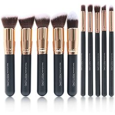 Makeup Brushes Nestling 2016 New Premium Cosmetics Makeup Brushes Set Synthetic Kabuki Makeup Brush, Foundation, Blending Blush, Eyeliner, Face Powder Brush Kit(10PCs, Rose Gold) >>> You can find more details by visiting the image link. (This is an affiliate link) #ToolsAccessories