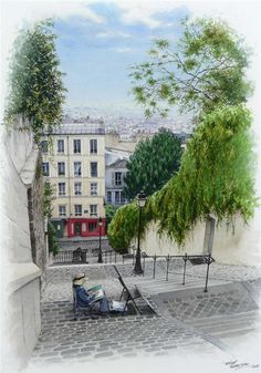 watercolor by Thierry Duval