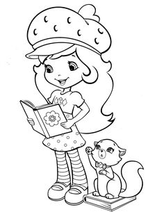 strawberry shortcake coloring page