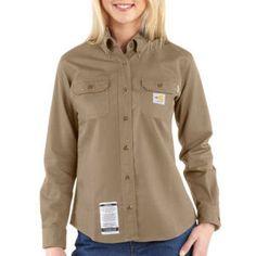 201f03c0ad69 Carhartt Womens Flame Resistant Twill Shirt