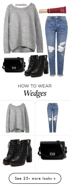 """Comfi outfit"" by jolindesnails on Polyvore featuring Topshop and Too Faced Cosmetics"