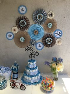 Bicycle themed baby shower
