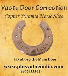 protect home with good luck copper pyramid horse-shoe, Vastu, feng shui product Feng Shui And Vastu, Feng Shui Tips, Copper Pyramid, Good Luck Horseshoe, Switch Words, Vastu Shastra, Copper Material, Pooja Rooms, Main Door
