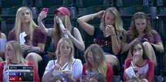For Some Reason People Are Angry At These Sorority Girls Taking Selfies At A Baseball Game