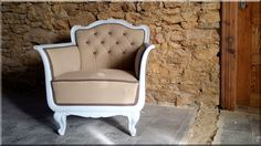 Felújított neobarokk fotel Vintage Designs, Diy And Crafts, Accent Chairs, Armchair, Furniture Design, Shabby Chic, Loft, Retro, Home Decor