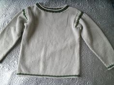 Child's soft Guernsey style taupe and green cotton by redbeachgirl, £12.00