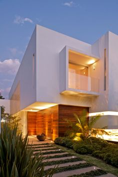 Angular Modern House with great use of glass, light & wood