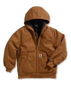 This Dark Brown Jac-Quilt Work Jacket - Boys is perfect! #zulilyfinds