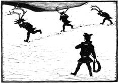 Gutter med lasso - John Andreas Savio Pen And Paper, Alter, Reindeer, Culture, Drawings, Artist, People, Prints, Painting