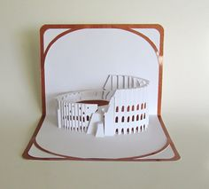 The COLOSSEUM Pop Up 3D CARD Origamic Architecture by BoldFolds